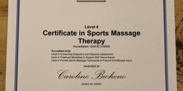 ITEC level 4 Sports Massage Distinction
